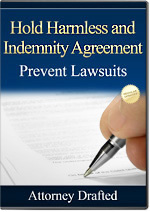 Hold Harmless Agreement - Attorney Drafted Form Template California Business Owner Hold Harmless Agreement