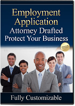 Employment Application Forms California - protect your business today